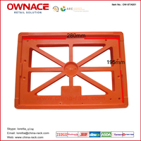 OW-STA001 Shopping Trolley Advertising Board, advertising frames, handle advertising, shopping trolley plastic accessories