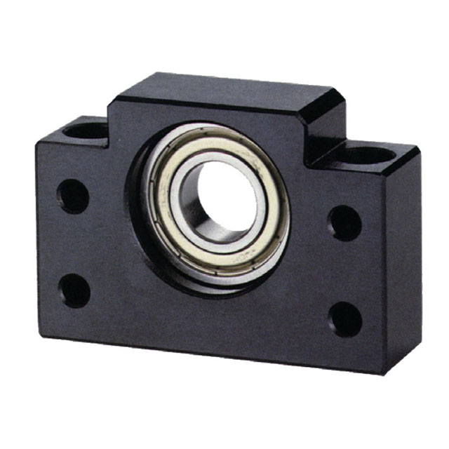 Angular contact ball bearing end support
