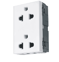 Two Gang 16A US Socket Part