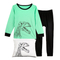 """Dinosaur"" Little Boys Pajamas 100% Cotton Clothes Toddler Kids Sleepwear"