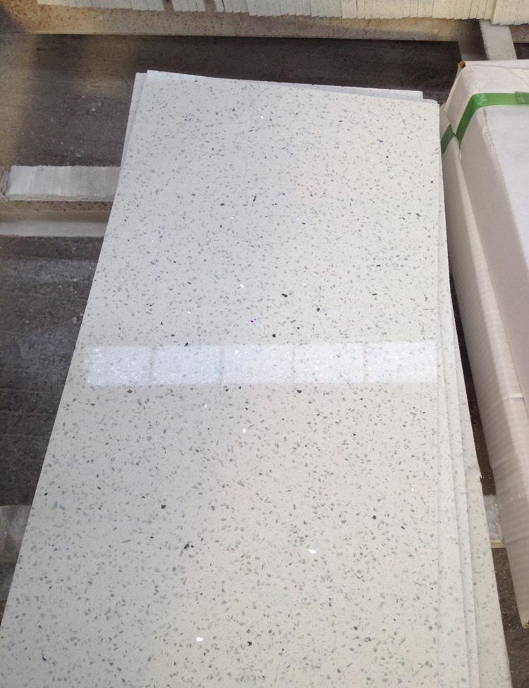 Artificial Sparkling White Quartz Stone Floor Tile Buy Xiamen Mrd