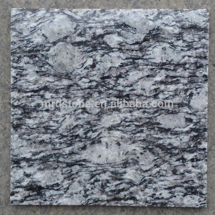 Wholesale Spray White Polished Granite Floor Tiles For Living Room