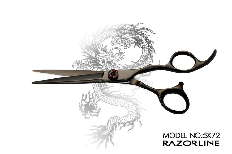 SK72 HAIR SCISSOR WHITE