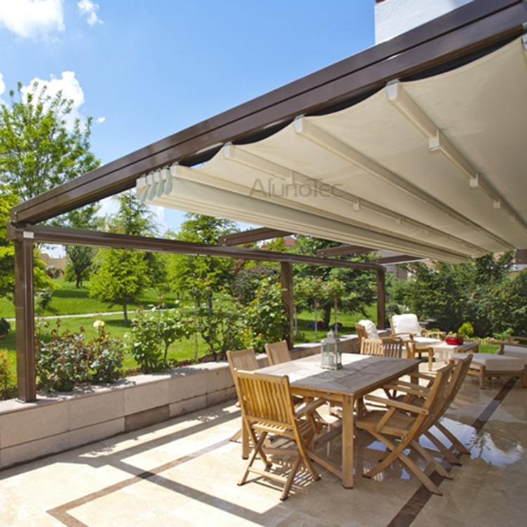 Pvc retractable roof aluminum pergola buy pvc - Pergola alu toile retractable ...