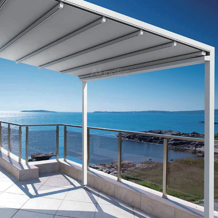shutters roof with textile systems weinor viva by plaza awnings outdoor led patio awning lights roofs blinds retractable pergola
