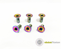 titanium steering wheel bolts PVD rainbow