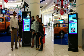 Aeon Mall in Cambodia, 47inch floor standing totem