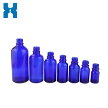 Blue Essential Oil Glass Bottle With Dropper