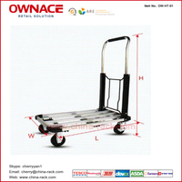 All New Design Aluminium Foldable Airport Luggage Trolley For Passengers