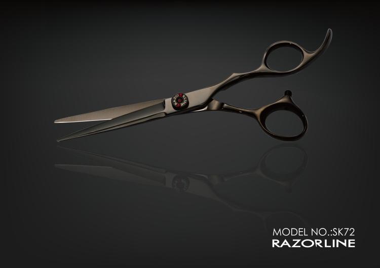 SK72 black hair scissor