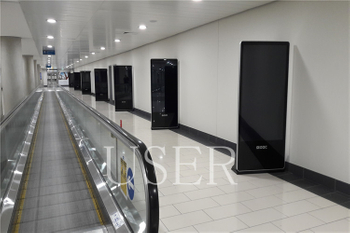 Larnaca Aiport in Cyprus, 65inch iPhone Design Floor Standing Totem, 15 units