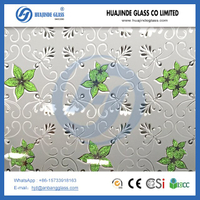 ice flower decorative building glass be made A-grade float glass ,door window glass with ISO