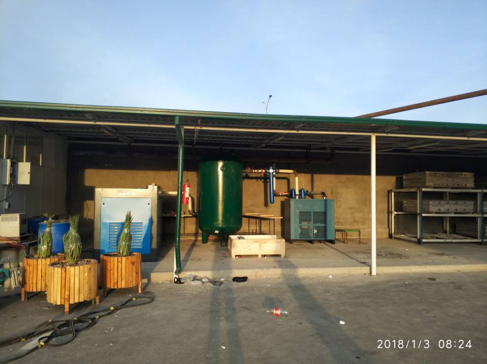 110KW air compressor installed in Tashkent.jpg