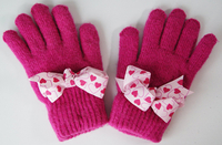 Customized Winter Knitted Acrylic Wholesale Small MOQ Hot Sale Lovely Fashion Winter Warm Knitted Gloves
