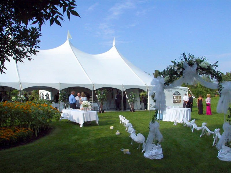 Outdoor Charming Cheap Pole Tent for Wedding Party