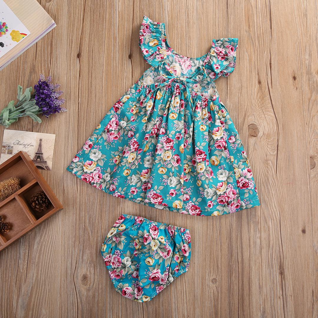 Summer Style Baby Girls Clothing 2pcs Set Newborn Ruffle Outfits ...