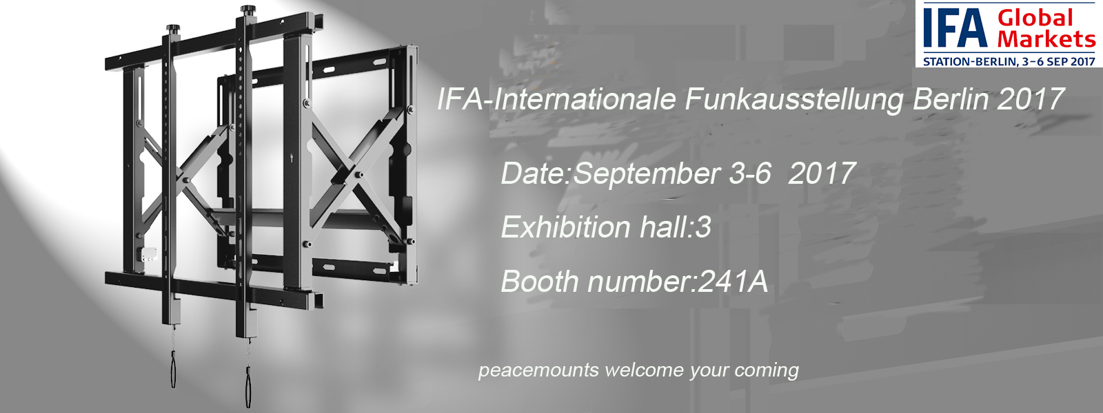 PEACEMOUNTS will attend the IFA