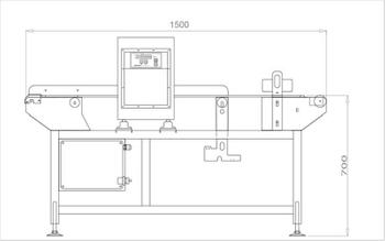 Elements o 350 350 food metal detection dongguan v finder electronic technology co , ltd