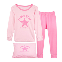 "Girls Pajamas ""Star"" 2 Piece Sleepwear Clothes Children Kids Pjs"