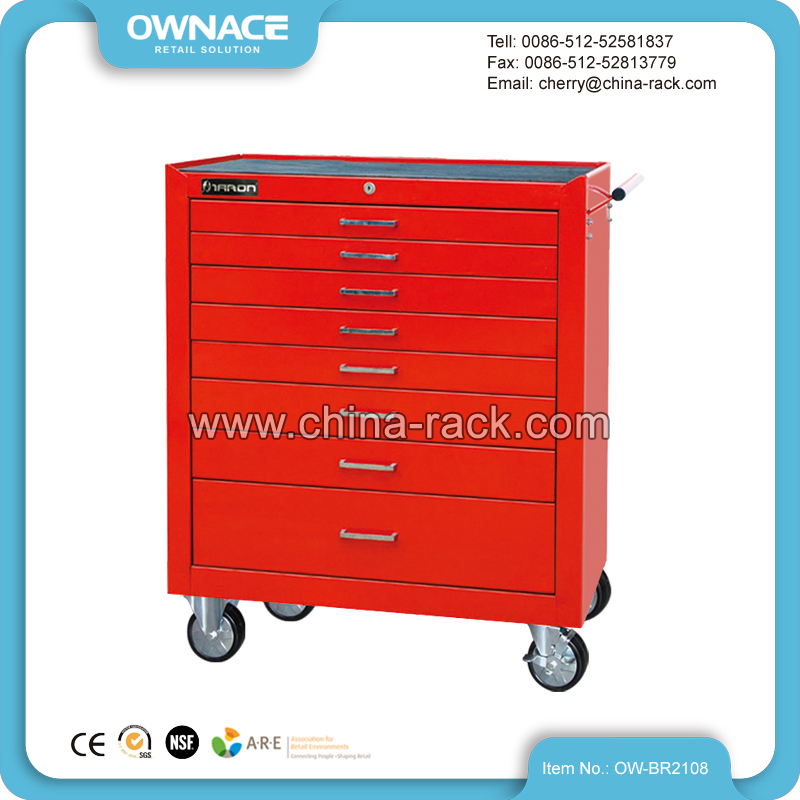 OW-BR2108 Steel Storage Tool Cabinet Trolley