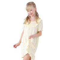 Sweet comfort breathable girls'nightgown