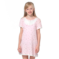 Girls'cotton short sleeved nightdress