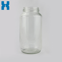 Clear 735ml Glass Jar for Hot Sauce Jam Honey