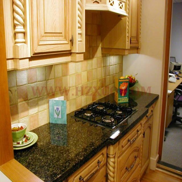 Verde Ubatuba Granite Countertop/ Kitchentop