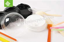 disposable reusable plastic round container/cup lid