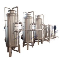 Complete Drinking Pure Water Treatment System Including Silica Sand Filter, Active Carbon Filter, Water Softener