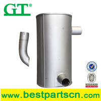 Exhaust muffler for E320C/320D/PC200/EX200