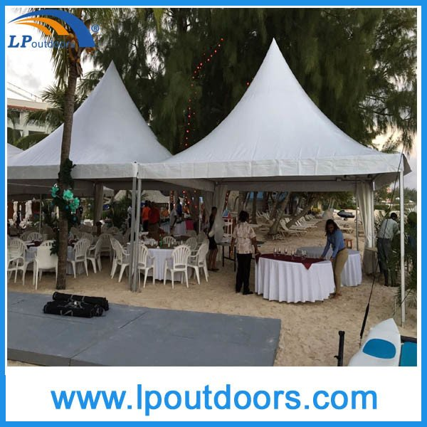 6X6m Outdoor Luxury High Peak Marquee Pagoda Tent for Wedding