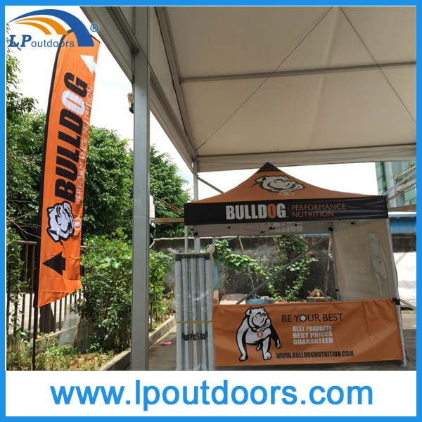 3X3m Outdoor Advertising Half Walls Canopy Pop up Tent for Promotion