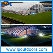 Large 40X55m Clear Curved Sports Tent For Tennis Game