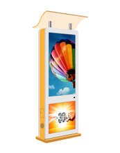 USER Outdoor LCD Totem Floor Stand Digital Signage with roof