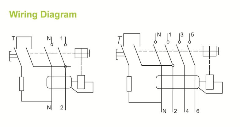 sfl66-63 2p rccb circuit breaker