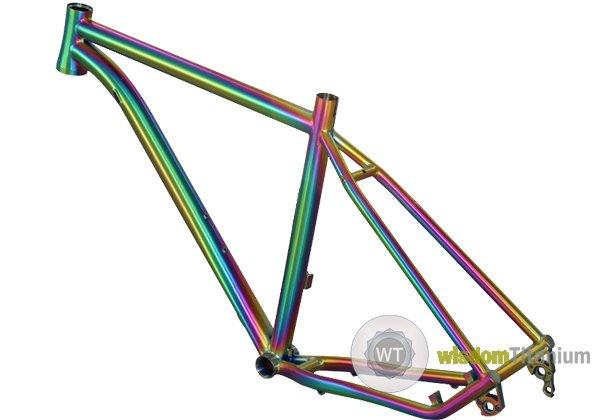 titanium MTB frame rainbow inner line j