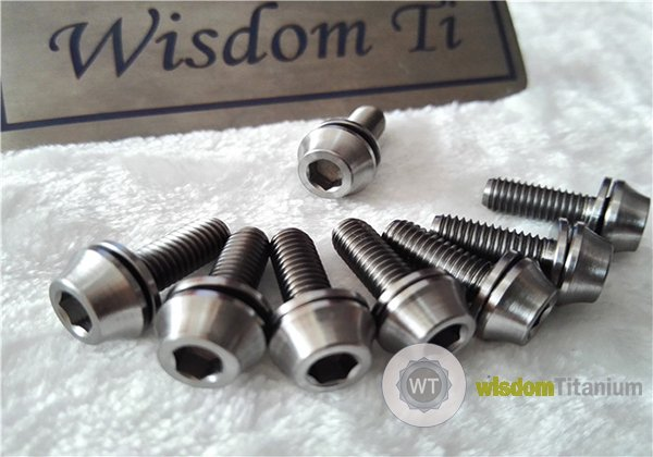 Titanium Bottle Cage Screw Bolts