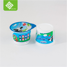 Plastic cup logo printed with aluminum foil lid for drink