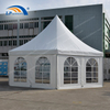 Dia 8m Outdoor Aluminum Hexagon Pagoda Tent For Event