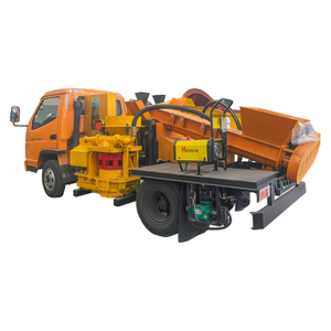 Truck-mounted Shotcrete Machine with Automatic Feeding System HS600/700*2