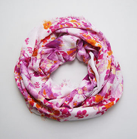 High Quality Printed Polyester Scarf Lady Fashion Jacquard Scarf