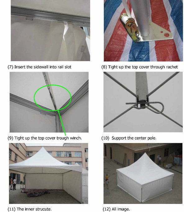 20X20' Outdoor Aluminum Frame Spring Top Marquee Tension Tent