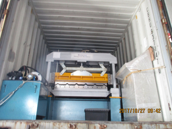 Long Span roll forming machine to Nigeria date 10.27, 2017