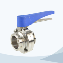 Sanitary clamped gripper butterfly valve