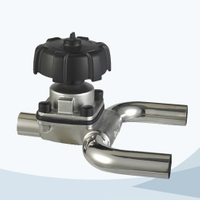 stainless steel hygienic grade U type manual diaphragm valve