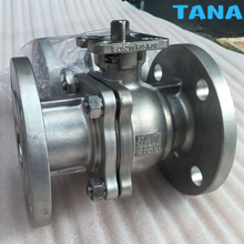 2 piece flanged floating ball valve with ISO 5211 mounting pad