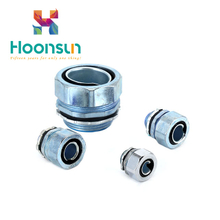 brass zinc alloy galvanized steel waterproof Flexible Conduit Connector of best quality