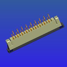 1.0mm间距带锁直针抽屉式FPC