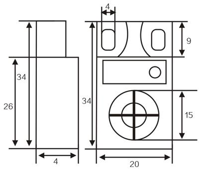 LMF25 Angular Column inductive proximity switch
